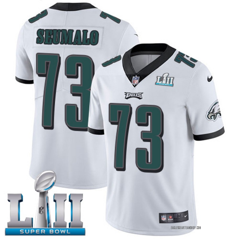 watch 9aad8 b075d Youth Nike Philadelphia Eagles Isaac Seumalo White Vapor Untouchable Player  Super Bowl LII Jersey - Limited