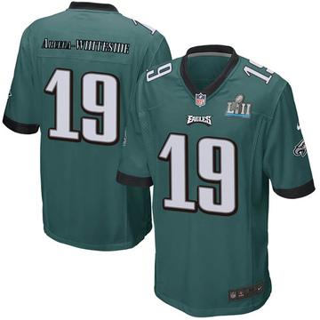 Youth Nike Philadelphia Eagles JJ Arcega-Whiteside White Green Team Color Super Bowl LII Jersey - Game