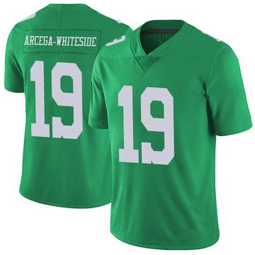 Youth Nike Philadelphia Eagles JJ Arcega-Whiteside White Green Vapor Untouchable Jersey - Limited