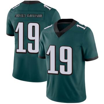 Youth Nike Philadelphia Eagles JJ Arcega-Whiteside White Midnight Green Team Color Vapor Untouchable Jersey - Limited