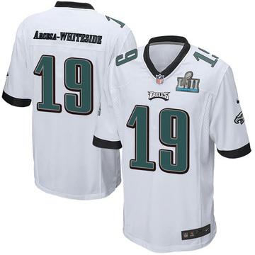 Youth Nike Philadelphia Eagles JJ Arcega-Whiteside White Super Bowl LII Jersey - Game
