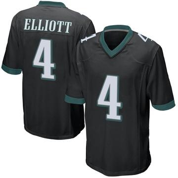 Youth Nike Philadelphia Eagles Jake Elliott Black Alternate Jersey - Game