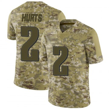 Youth Nike Philadelphia Eagles Jalen Hurts Camo 2018 Salute to Service Jersey - Limited