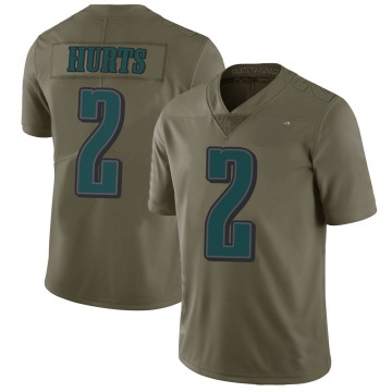 Youth Nike Philadelphia Eagles Jalen Hurts Green 2017 Salute to Service Jersey - Limited