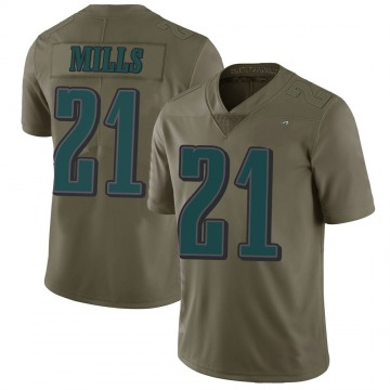 Youth Nike Philadelphia Eagles Jalen Mills Green 2017 Salute to Service Jersey - Limited
