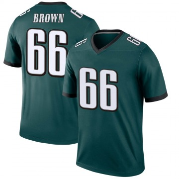 Youth Nike Philadelphia Eagles Jamon Brown Green Jersey - Legend