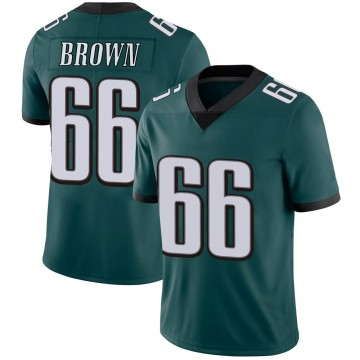 Youth Nike Philadelphia Eagles Jamon Brown Green Midnight 100th Vapor Jersey - Limited