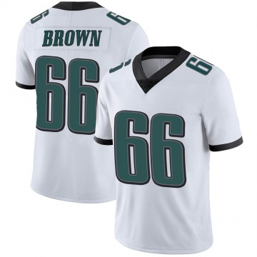 Youth Nike Philadelphia Eagles Jamon Brown White Vapor Untouchable Jersey - Limited