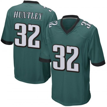Youth Nike Philadelphia Eagles Jason Huntley Green Team Color Jersey - Game