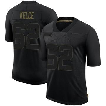 Youth Nike Philadelphia Eagles Jason Kelce Black 2020 Salute To Service Jersey - Limited