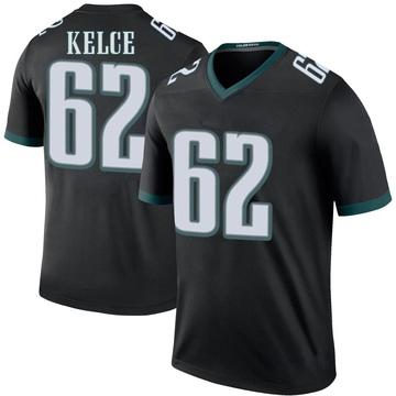 Youth Nike Philadelphia Eagles Jason Kelce Black Color Rush Jersey - Legend