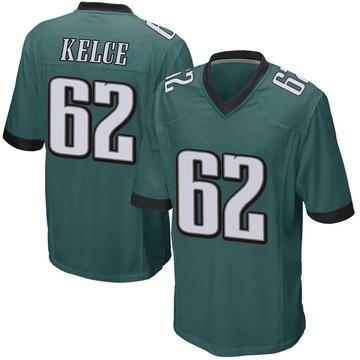 Youth Nike Philadelphia Eagles Jason Kelce Green Team Color Jersey - Game