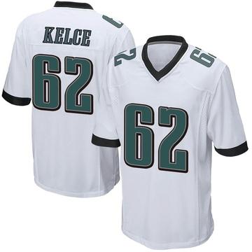 Youth Nike Philadelphia Eagles Jason Kelce White Jersey - Game