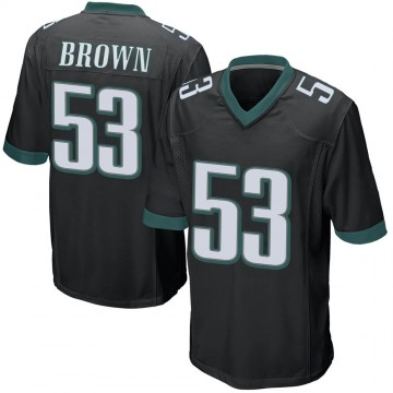 Youth Nike Philadelphia Eagles Jatavis Brown Black Alternate Jersey - Game