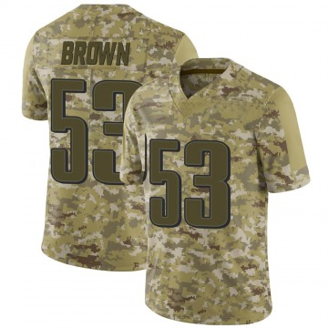 Youth Nike Philadelphia Eagles Jatavis Brown Brown Camo 2018 Salute to Service Jersey - Limited