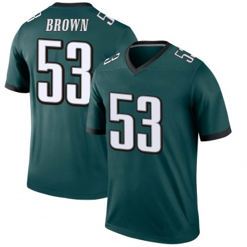 Youth Nike Philadelphia Eagles Jatavis Brown Green Jersey - Legend