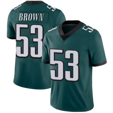Youth Nike Philadelphia Eagles Jatavis Brown Green Midnight 100th Vapor Jersey - Limited