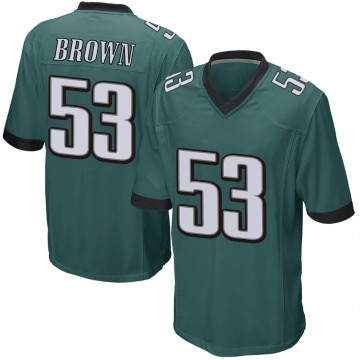 Youth Nike Philadelphia Eagles Jatavis Brown Green Team Color Jersey - Game
