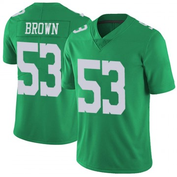 Youth Nike Philadelphia Eagles Jatavis Brown Green Vapor Untouchable Jersey - Limited