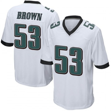 Youth Nike Philadelphia Eagles Jatavis Brown White Jersey - Game