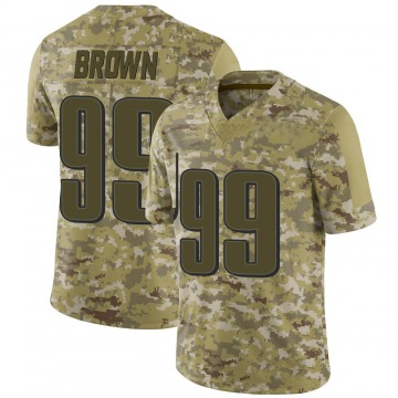 Youth Nike Philadelphia Eagles Jerome Brown Brown Camo 2018 Salute to Service Jersey - Limited