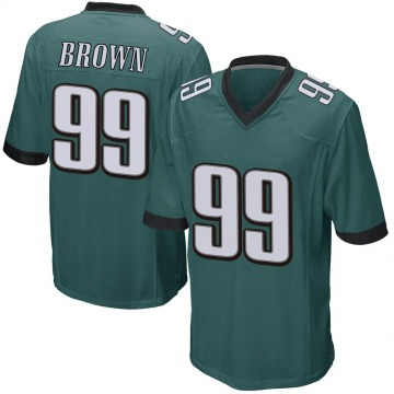 Youth Nike Philadelphia Eagles Jerome Brown Green Team Color Jersey - Game