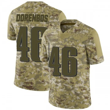 Youth Nike Philadelphia Eagles Jon Dorenbos Camo 2018 Salute to Service Jersey - Limited