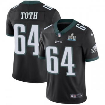 Youth Nike Philadelphia Eagles Jon Toth Black Alternate Super Bowl LII Vapor Untouchable Jersey - Limited