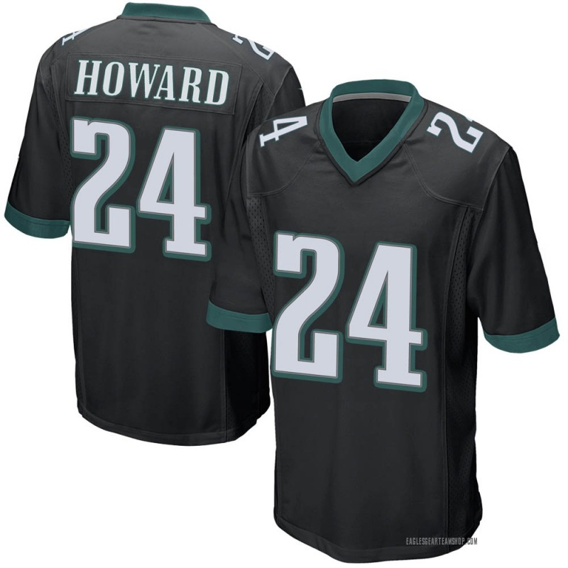 best service db3be 14a02 Youth Nike Philadelphia Eagles Jordan Howard Black Alternate Jersey - Game