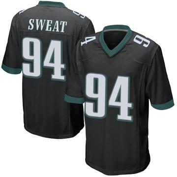 Youth Nike Philadelphia Eagles Josh Sweat Black Alternate Jersey - Game