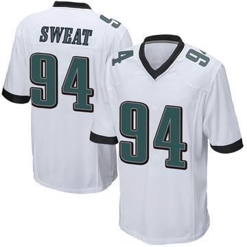 Youth Nike Philadelphia Eagles Josh Sweat White Jersey - Game