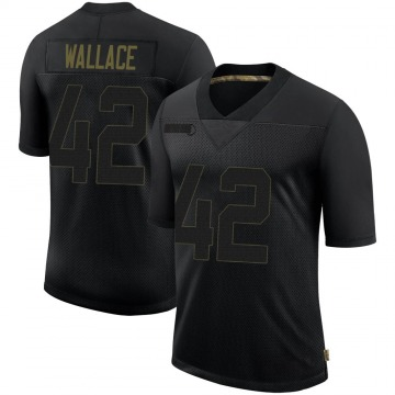 Youth Nike Philadelphia Eagles K'Von Wallace Black 2020 Salute To Service Jersey - Limited