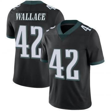 Youth Nike Philadelphia Eagles K'Von Wallace Black Alternate Vapor Untouchable Jersey - Limited