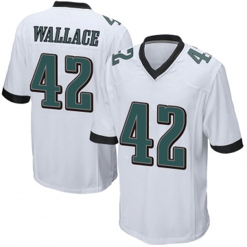 Youth Nike Philadelphia Eagles K'Von Wallace White Jersey - Game