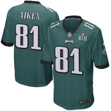 Youth Nike Philadelphia Eagles Kamar Aiken Green Team Color Super Bowl LII Jersey - Game