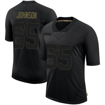 Youth Nike Philadelphia Eagles Lane Johnson Black 2020 Salute To Service Jersey - Limited