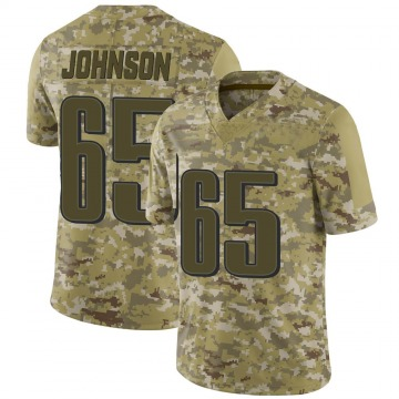 Youth Nike Philadelphia Eagles Lane Johnson Camo 2018 Salute to Service Jersey - Limited