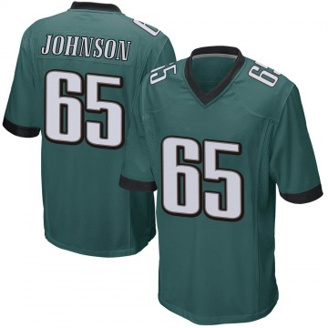 Youth Nike Philadelphia Eagles Lane Johnson Green Team Color Jersey - Game