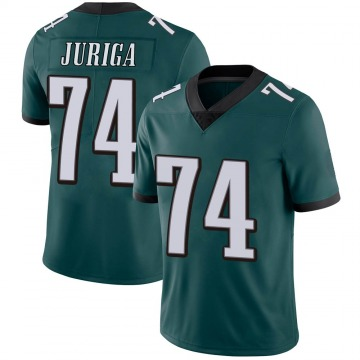Youth Nike Philadelphia Eagles Luke Juriga Green Midnight Team Color Vapor Untouchable Jersey - Limited