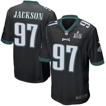 Youth Nike Philadelphia Eagles Malik Jackson Black Alternate Super Bowl LII Jersey - Game