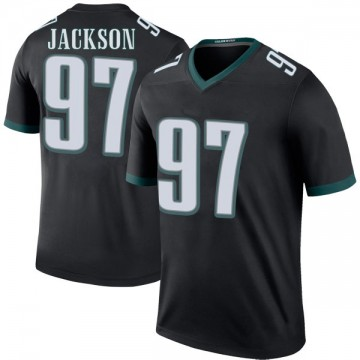 Youth Nike Philadelphia Eagles Malik Jackson Black Color Rush Jersey - Legend