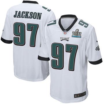 Youth Nike Philadelphia Eagles Malik Jackson White Super Bowl LII Jersey - Game