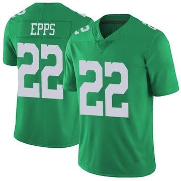 Youth Nike Philadelphia Eagles Marcus Epps Green Vapor Untouchable Jersey - Limited