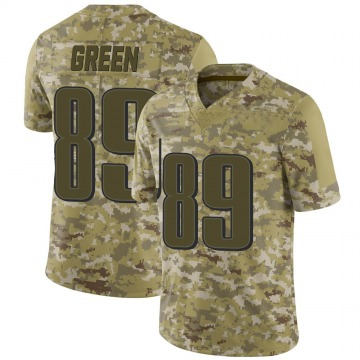 Youth Nike Philadelphia Eagles Marcus Green Green Camo 2018 Salute to Service Jersey - Limited