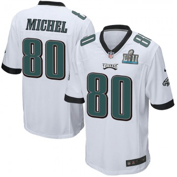 Youth Nike Philadelphia Eagles Marken Michel White Super Bowl LII Jersey - Game