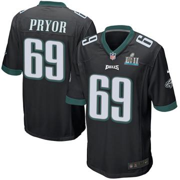 Youth Nike Philadelphia Eagles Matt Pryor Black Alternate Super Bowl LII Jersey - Game