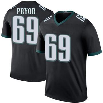 Youth Nike Philadelphia Eagles Matt Pryor Black Color Rush Jersey - Legend