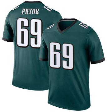 Youth Nike Philadelphia Eagles Matt Pryor Green Jersey - Legend