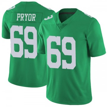 Youth Nike Philadelphia Eagles Matt Pryor Green Vapor Untouchable Jersey - Limited