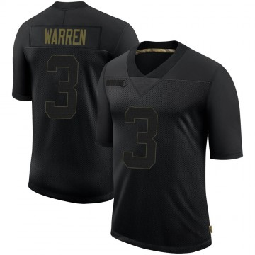 Youth Nike Philadelphia Eagles Michael Warren II Black 2020 Salute To Service Jersey - Limited